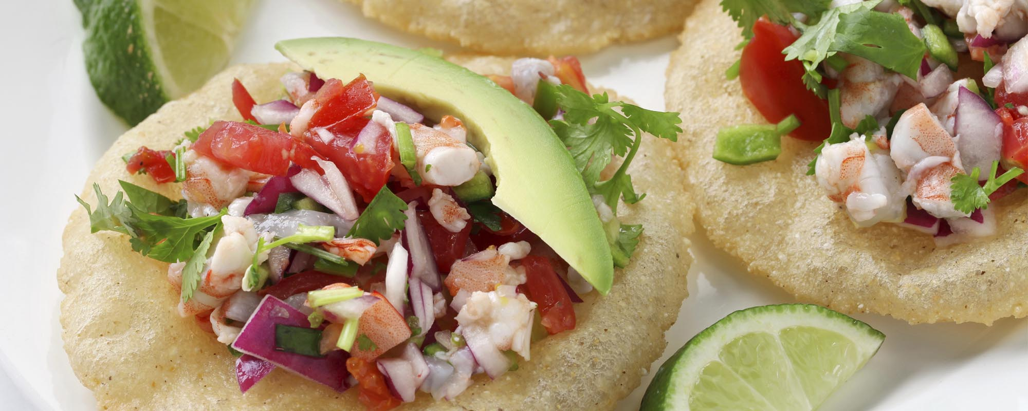 MAIZADA CORN TOSTADA WITH CEVICHE